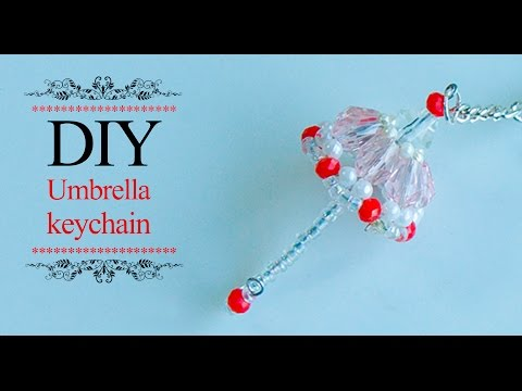 DIY mini umbrella | How to make umbrella keychain | Tutorial | Beads art
