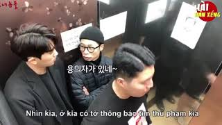 Troll người trong thang máy - Pretend to be a criminal trolling people in an elevator