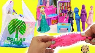 Dollar Tree Haul Video of Disney Queen Elsa Frozen Crafts , Doll House Toys  + More