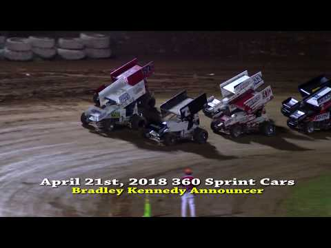 4-21-18 Placerville Speedway 360 Sprint Cars Main Event Highlights