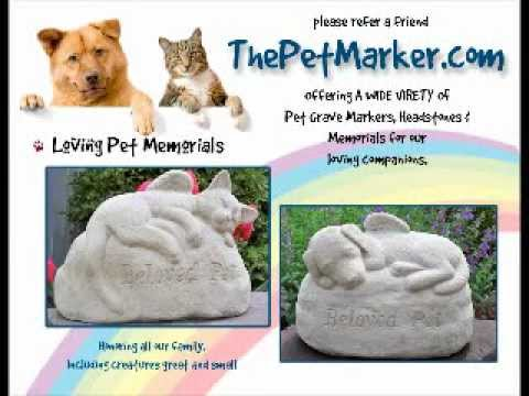 Pet Memorial Garden Statuary Concrete Dog And Cat Statues