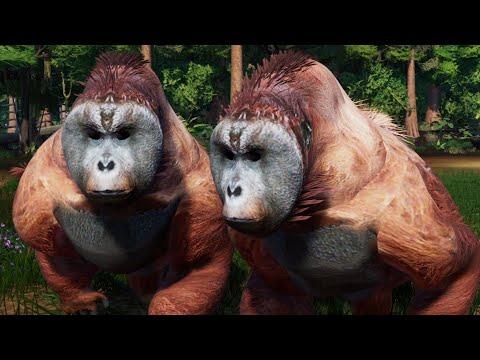 3 Gigantopithecus & 2 Vastatosaurus Rex Breakout & Fight - Jurassic World Evolution Mods (4K 60FPS)  
