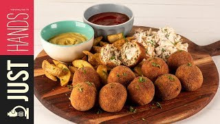 Stuffed Chicken Patties | Akis Kitchen