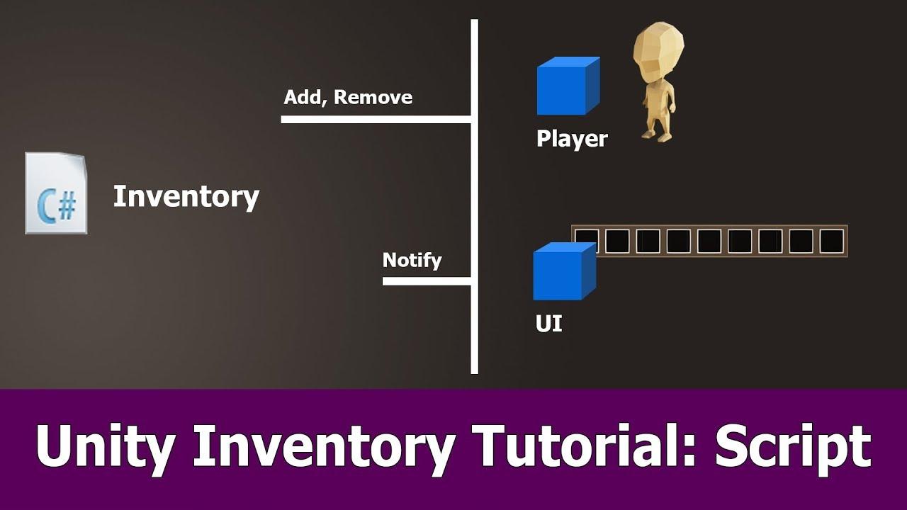 Unity Inventory Script Tutorial