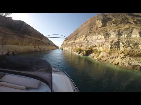Corinth Canal from Adriatic to Aegean....