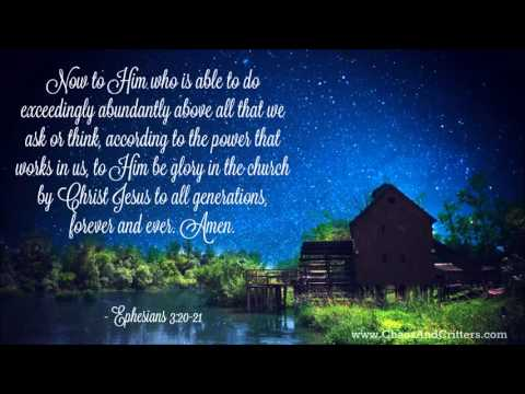Daily Bible Verse - Ephesians 3:20-21 - Daily Inspiration and Encouragement from the Bible