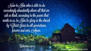 Repeat youtube video Daily Bible Verse - Ephesians 3:20-21 - Daily Inspiration and Encouragement from the Bible