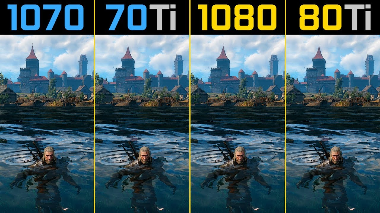 The Witcher 3 GTX 1070 vs  GTX 1070 Ti vs  GTX 1080 vs  GTX 1080 Ti