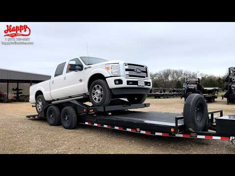 2020 PJ Trailers SuperWide Tilt [TS] Loading Demo