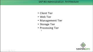 SAP BO Administration - Architecture