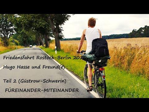 FRIEDENSFAHRT Rostock-Berlin (Teil 2), Hugo on Tour mit dem Rad, zweite Etappe Güstrow-Schwerin