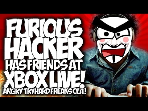"""COD BO2: FURIOUS HACKER HAS FRIENDS AT XBOX LIVE!! ANGRY TRYHARD FREAKS OUT! """"HACKER TROLLING"""""""