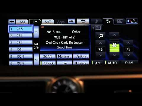 How to Set Radio Stations in a Lexus Vehicle