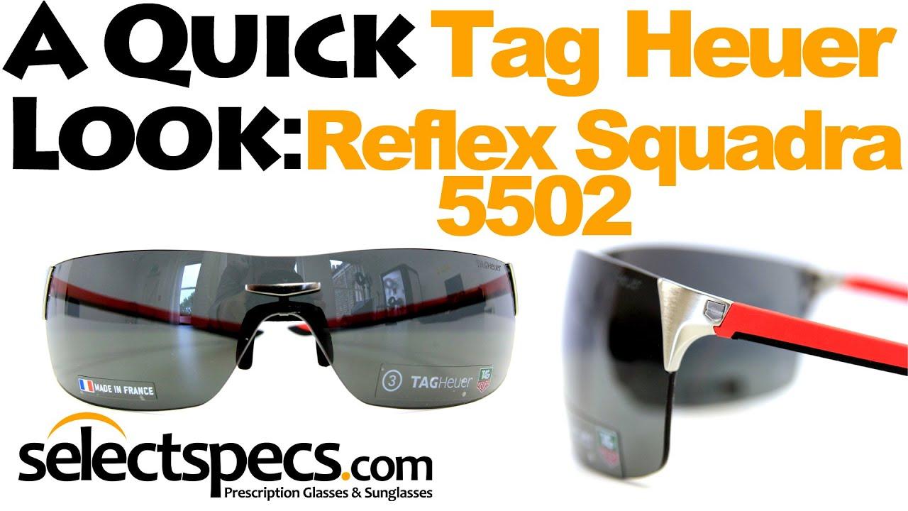 bd1855dc9 A Quick Look: Tag Heuer Reflex Squadra 5502 Red & Black Sunglasses - With  SelectSpecs.com - YouTube