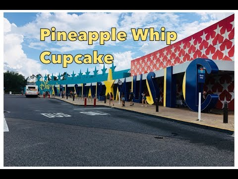 The Pineapple Whip Cupcake at Disney's All Star Music Resort  May 2018