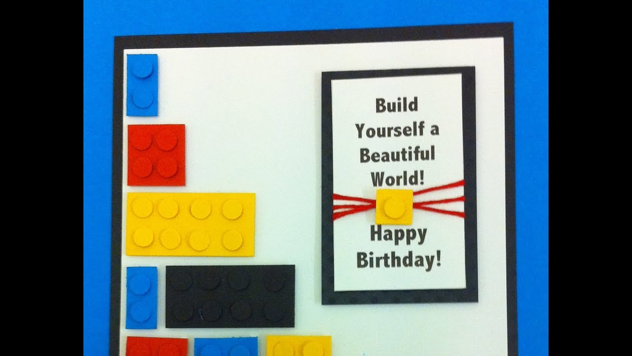 A Birthday Card for anyone that loves Lego Tutorial YouTube – Lego Birthday Card