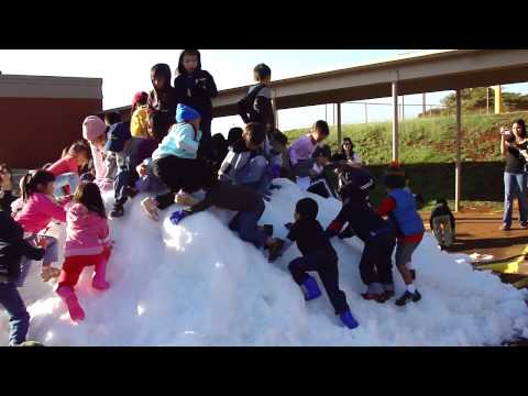 """Pearl City's Momilani Elementary School """"Snow Day"""" on 12/10/09"""