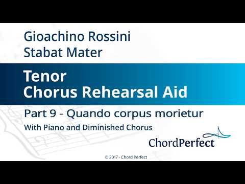 Rossini's Stabat Mater Part 9 - Quando corpus morietur - Tenor Chorus Rehearsal Aid