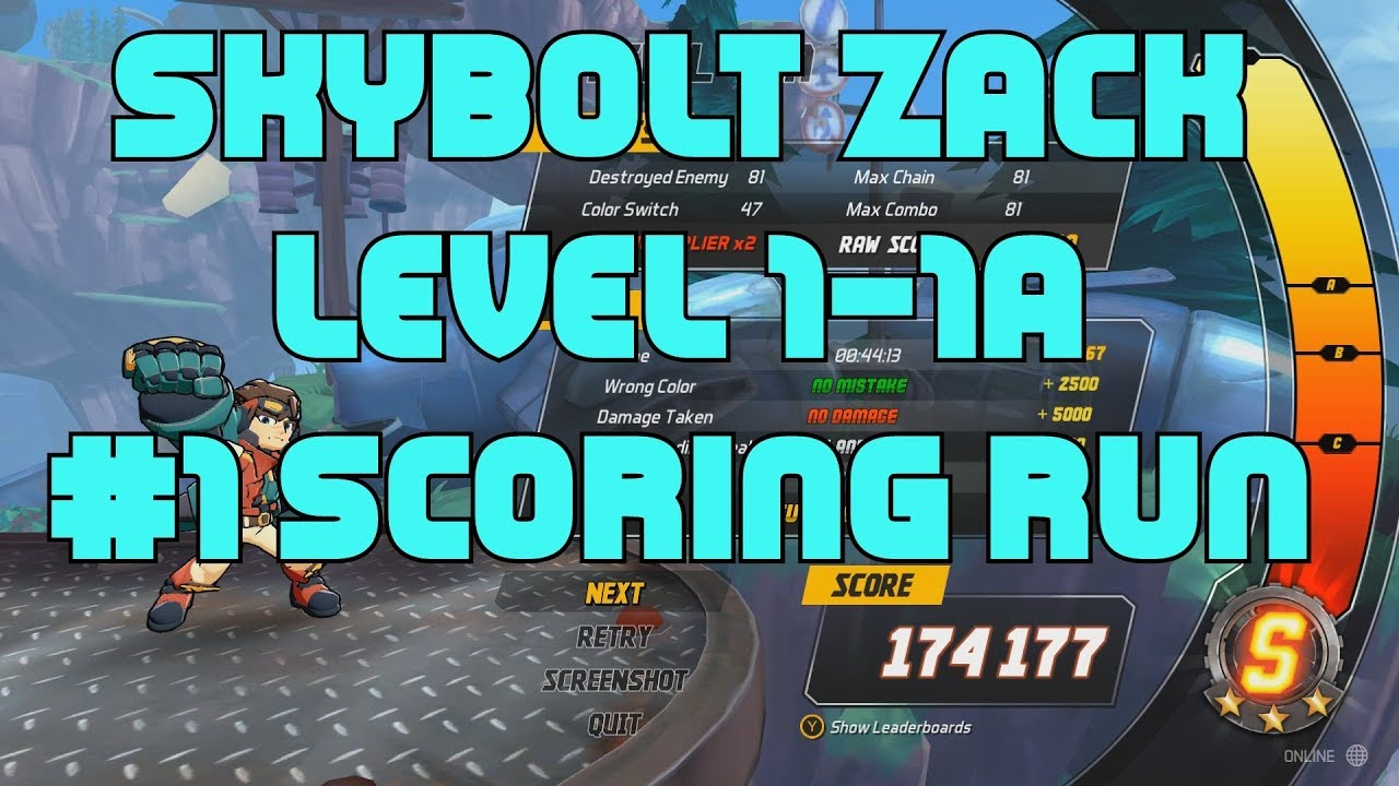 Skybolt Zack - Level 1-1A #1 Scoring Run  - And Launch Event details ( in description ) -