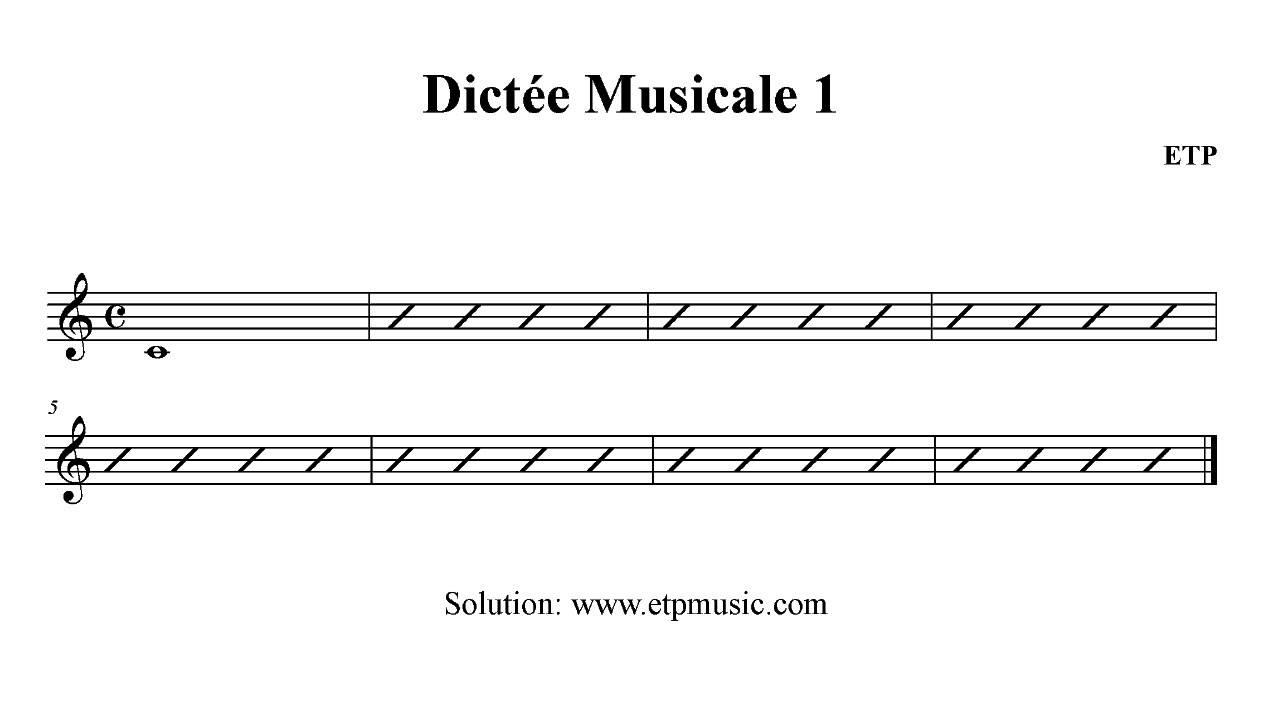 Dictee Musicale Exercice 1 Cours De Solfege En Ligne Youtube