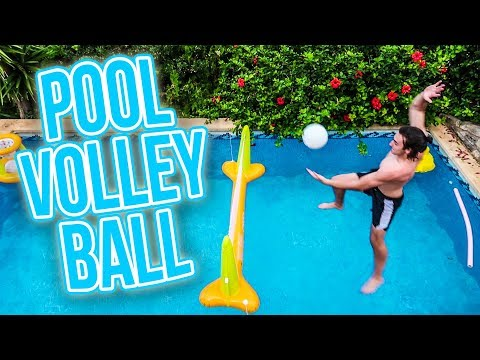 POOL VOLLEYBALL CHALLENGE!!