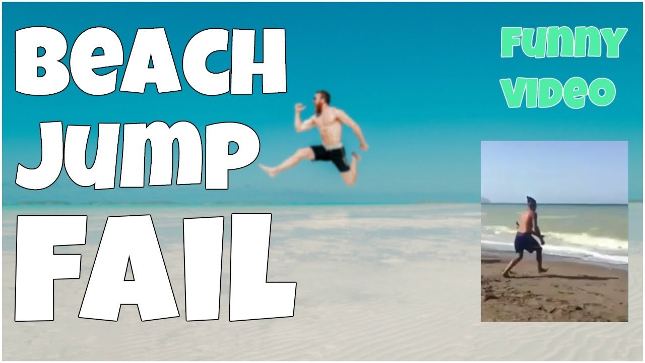 Seashore leap fail 🔸 7 second of happiness FUNNY Video 😂 #395
