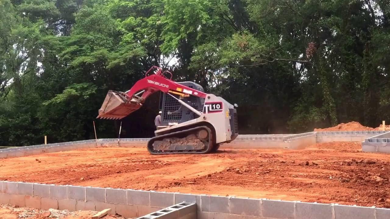Takeuchi tl10 leveling foundation for concrete