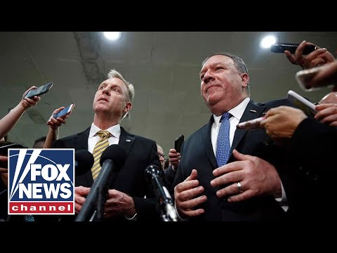 Pompeo, Shanahan brief lawmakers, defend response to Iran