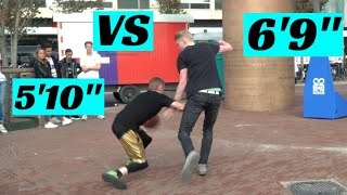 """Professor 1v1 vs two 6'9"""" Pro Euro Hoopers.. Crosses Giant Hooper Off The Court (unseen footage)"""
