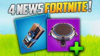 C4, MORE TREMPLIN AND BUGS CORRECTED ON FORTNITE! (Fortnite News)