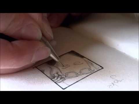 Speeddrawing miniature portrait