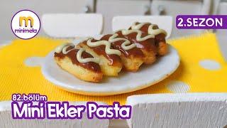 MİNİ EKLER PASTA - Ekler Pasta Nasıl Yapılır? Minimela Mutfak - Minifood #eklerpasta #minimal #mini