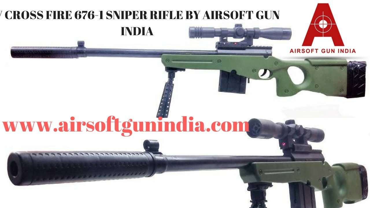 V Cross Fire 676 Sniper Rifle By Airsoft Gun India Youtube