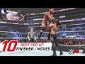 WWE 2K19 Top 10 Greatest Pop-up Finishers & Moves
