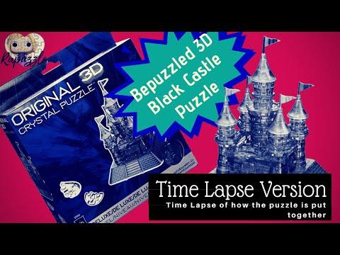 Bepuzzled 3D Crystal Puzzle- The Black Castle- Time Lapse