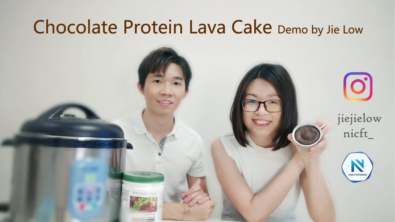 Chocolate Protein Lava Cake -- Demo by Jie Low