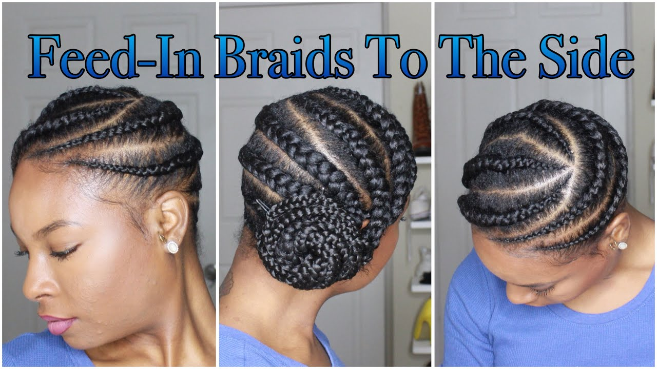 Medium Feed,In Braids To The Side