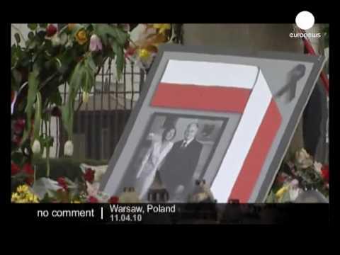 Poland pays homage to its president Lech Kaczynski