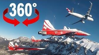 Mit der Patrouille Suisse am Lauberhorn | 360°-Video | Blick
