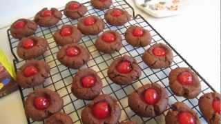 Chocolate Cherry Cookies  Gluten Free