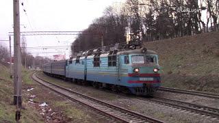 ВЛ80Т-1176 с поездом №42 Трускавец - Днепропетровск на прегоне Гречаны - Хмельницкий
