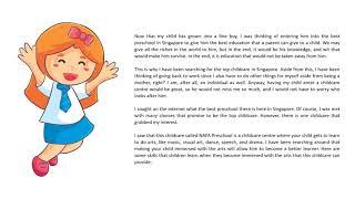 Seeking the Best Preschool in Singapore