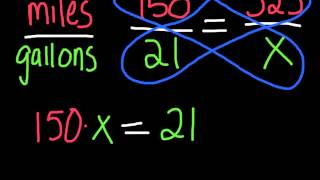 Proportions and Cross Multiplying