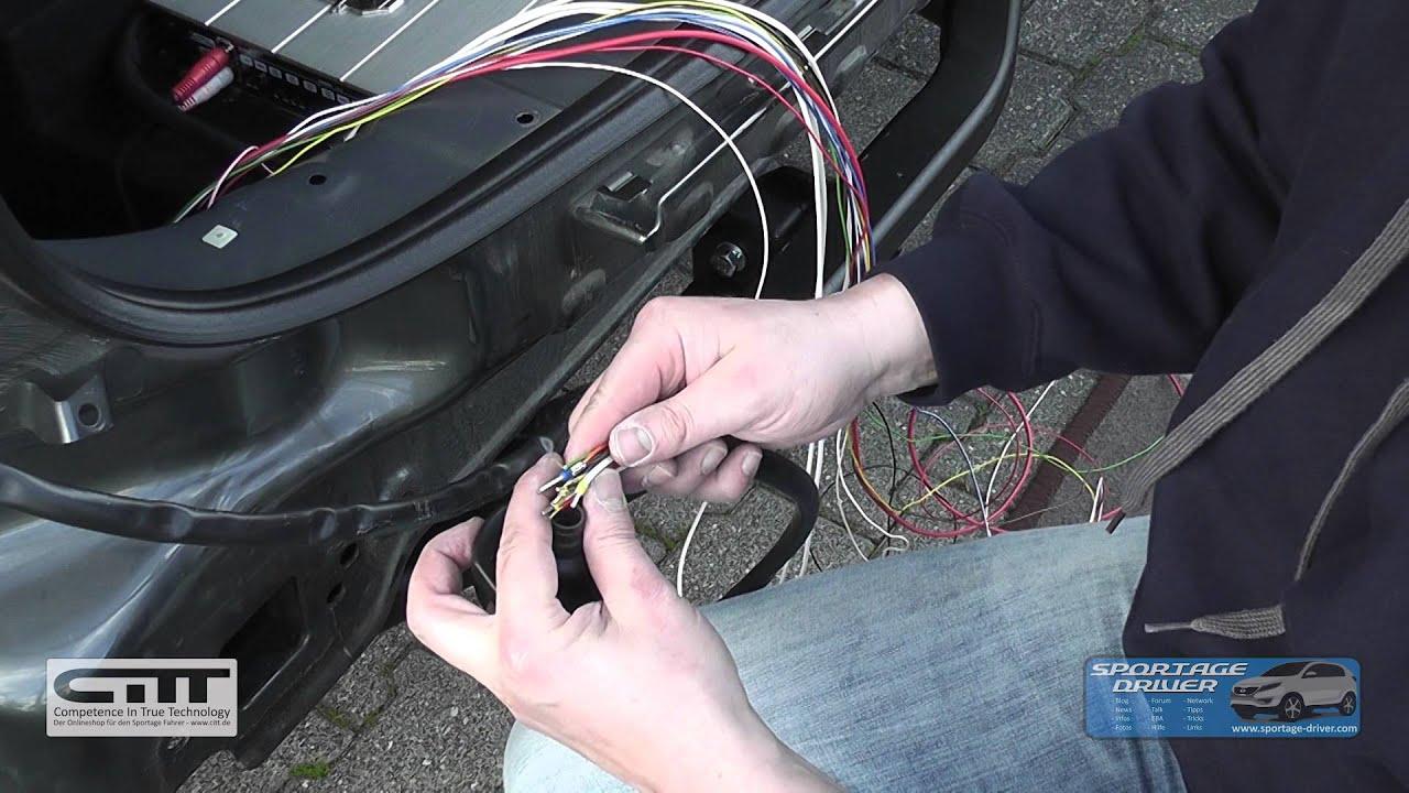 Sportage Driver - Installation Steinhof AHK - Sportage SL - YouTube
