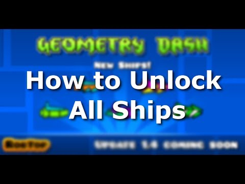 Geometry Dash ALL SHIPS  How to Unlock  YouTube