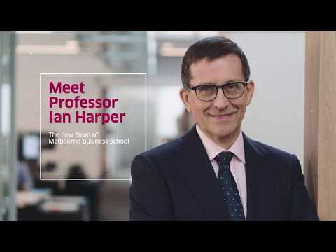 Meet Professor Ian Harper, new Dean of Melbourne Business School