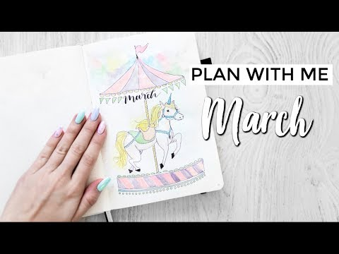 PLAN WITH ME MARCH - Bullet Journal 2019 🖋🎠🎡
