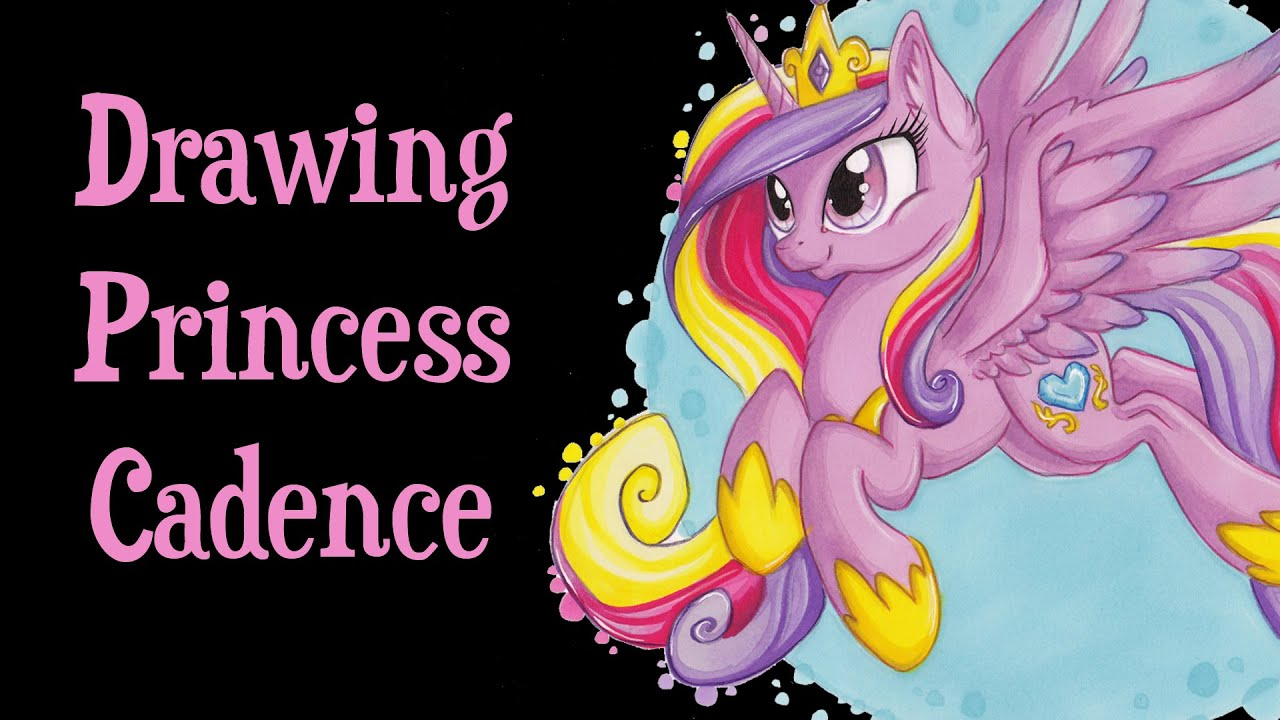 Speed Drawing MLP - Princess Cadence, a second time - YouTube
