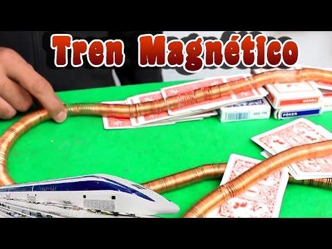 Como hacer un tren magnético casero  │ Experimento │Magnetismo
