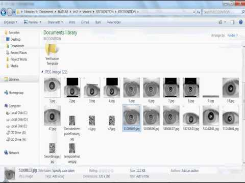 Iris Recognition using Wavelet Transform Matlab Detection IE